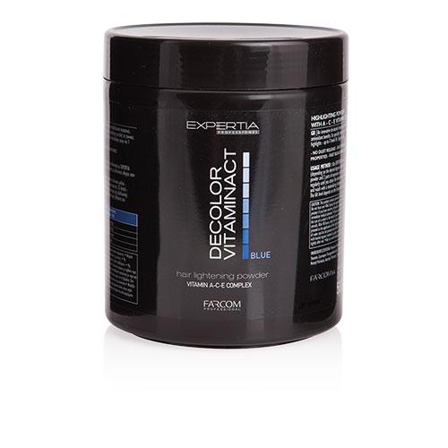 Plaukų šviesinimo milteliai EXPERTIA Decolor Vitaminact blue(mėlyni) 500g-0