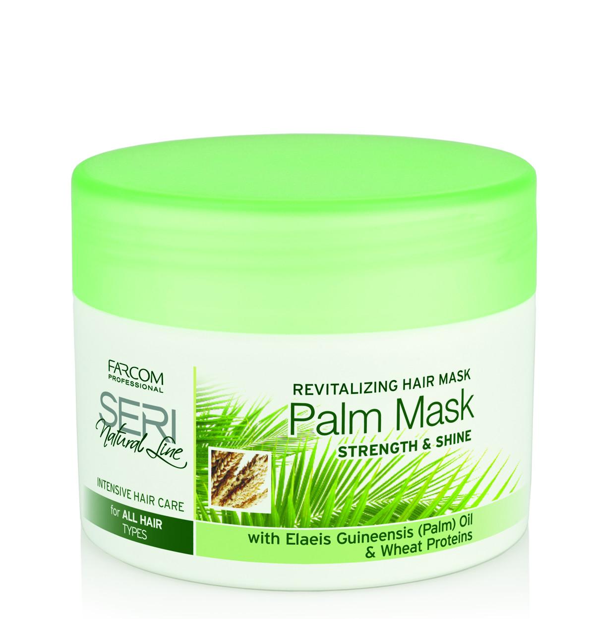 Kaukė plaukams su palmių aliejumi SERI Natural Line Revitalizing Hair Palm Mask 300 ml-0