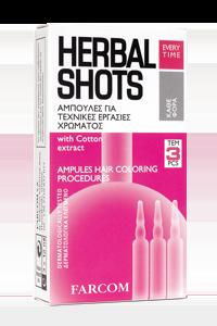 Ampulės dažytiems plaukams FARCOM HERBAL SHOTS Hair Coloring Procedures 3 x 10 ml-0