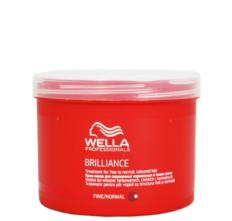 Kaukė ploniems ir normaliems dažytiems plaukams Wella Brilliance Fine 500 ml-0