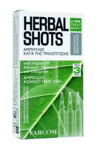 Ampulės nuo plaukų slinkimo FARCOM HERBAL SHOTS Againts Hair Loss 3 x 10 ml-0