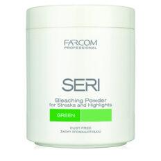 Plaukų šviesinimo milteliai SERI Maxitone Bleaching Powder Green (žali) 500 g-0