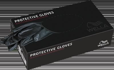 Pirštinės Wella Protective Gloves M juodos 100 vnt-0