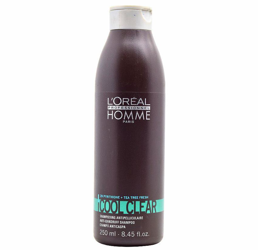Šampūnas plaukams nuo pleiskanų L'Oreal Professionnel Homme Cool Clear Shampoo 250ml-0