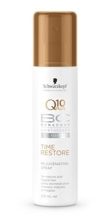 Atjauninanti plaukus purškiama priemonė Schwarzkopf Bonacure Q10 plus Time Restore Rejuvenating Spray 200 ml-0