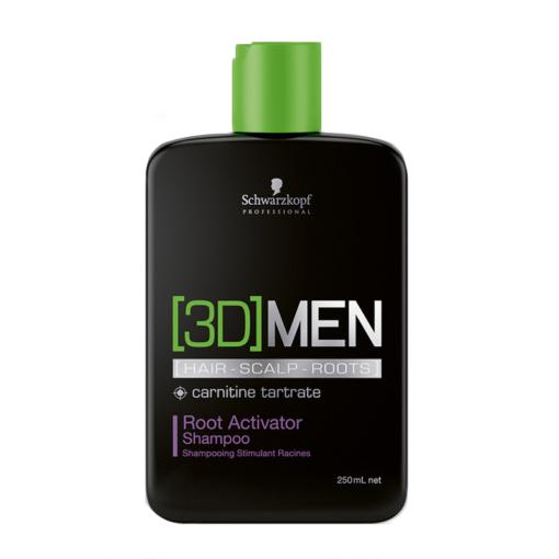 Šampūnas skatinantis plaukų augimą Schwarzkopf [3D]MEN Root Activator Shampoo 250ml-0