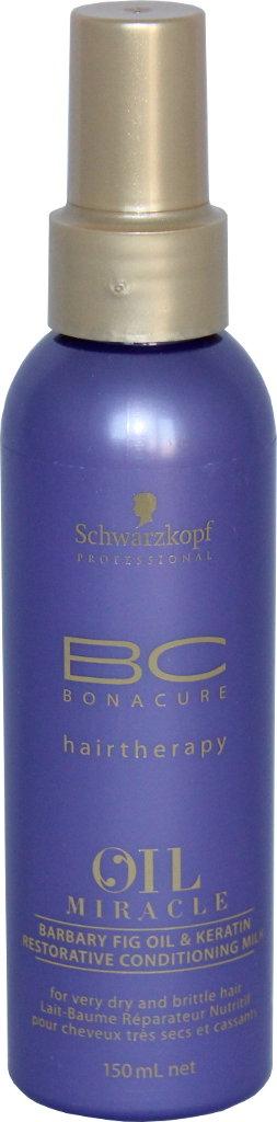 Atstatomasis pienelis Schwarzkopf BC Oil Miracle Barbary Fig Oil & Keratin Restorative conditioning milk 150 ml-0