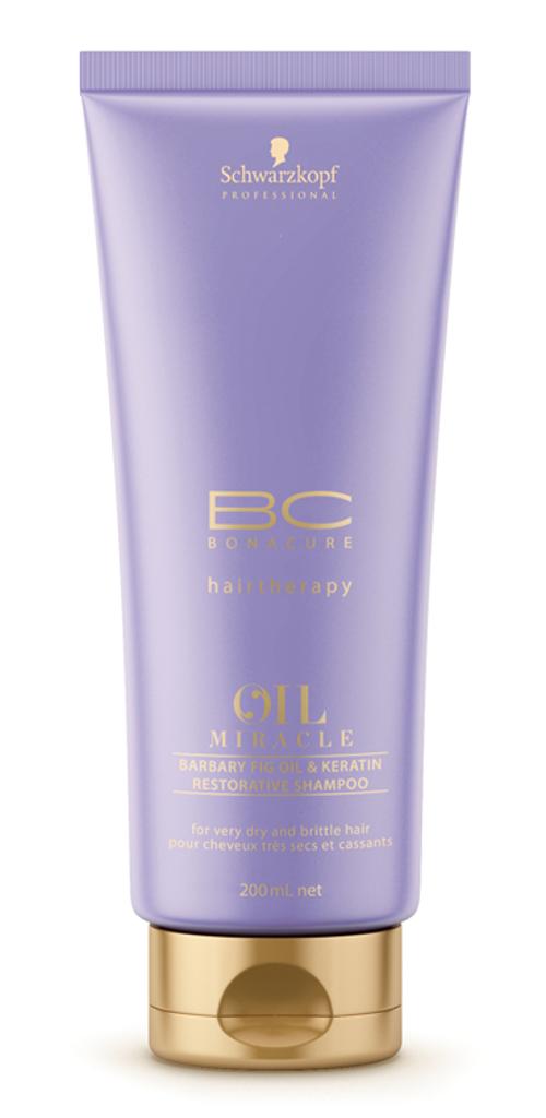 Atstatomasis šampūnas Schwarzkopf BC Oil Miracle Barbary Fig Oil & Keratin restorative shampoo 200 ml-0