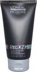 Stiprios fiksacijos plaukų želė L'oreal Professionnel Homme 6 Strong Hold gel 150 ml-0