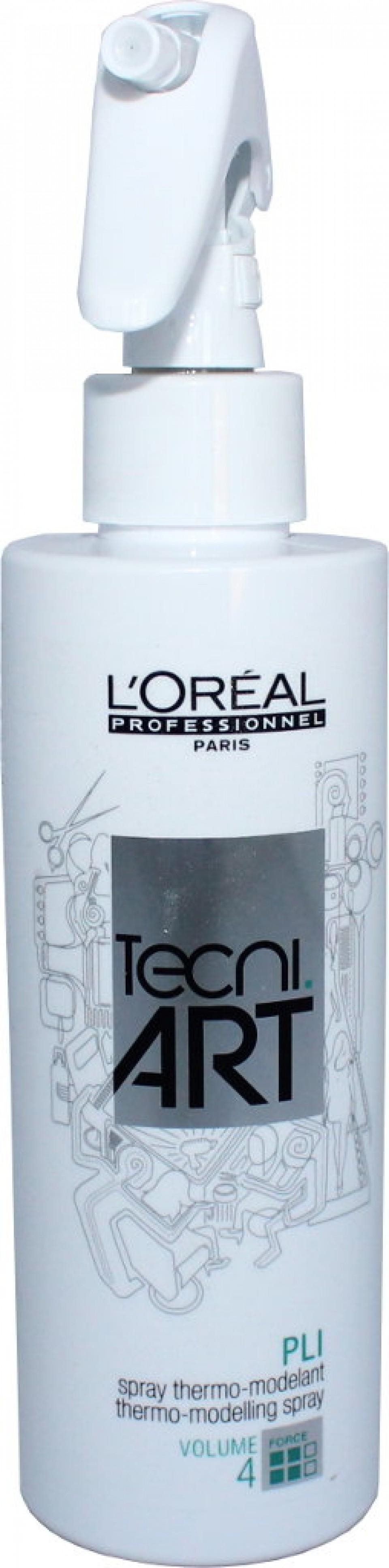 Apsaugantis nuo karščio plaukus formuojantis purškiklis L'oreal Tec ni Art PLI Spray Thermo-modeling spray 4 190 ml-0