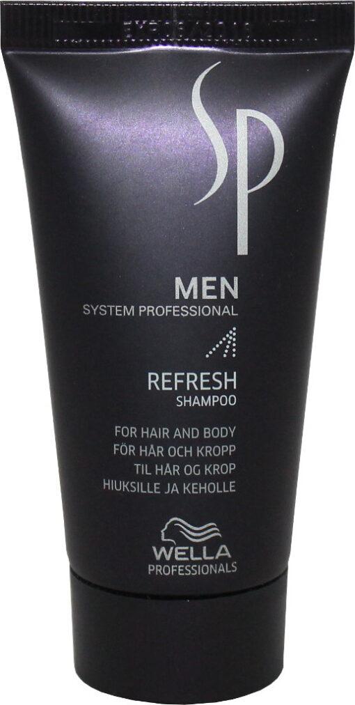 Gaivinamasis šampūnas - prausiklis plaukams ir kūnui Wella SP Refresh shampoo for hair& body 30 ml-0