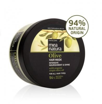 Maitinanti plaukų kaukė su alyvuogių aliejumi Farcom Mea Natura Olive Hair Mask Intensive Nourishment&Shine 250 ml-0
