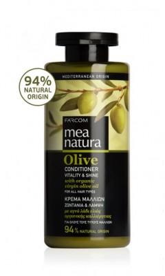Atgaivinantis, drėkinantis plaukus kondicionierius su alyvuogių aliejumi Farcom Mea Natura Olive Conditioner Vitality&Shine 300ml-0