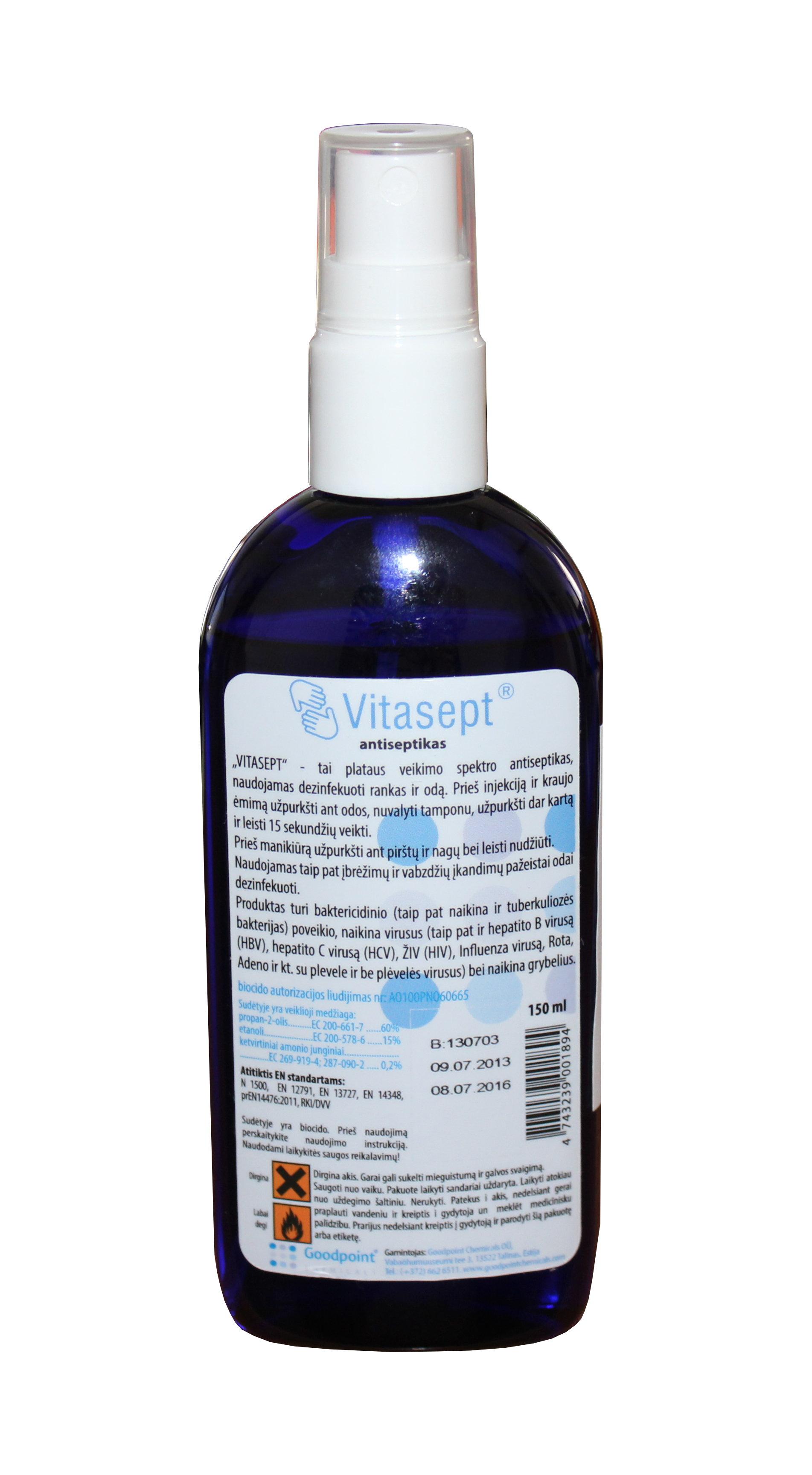 Rankų dezinfekavimo priemonė Vitasept 150 ml-0