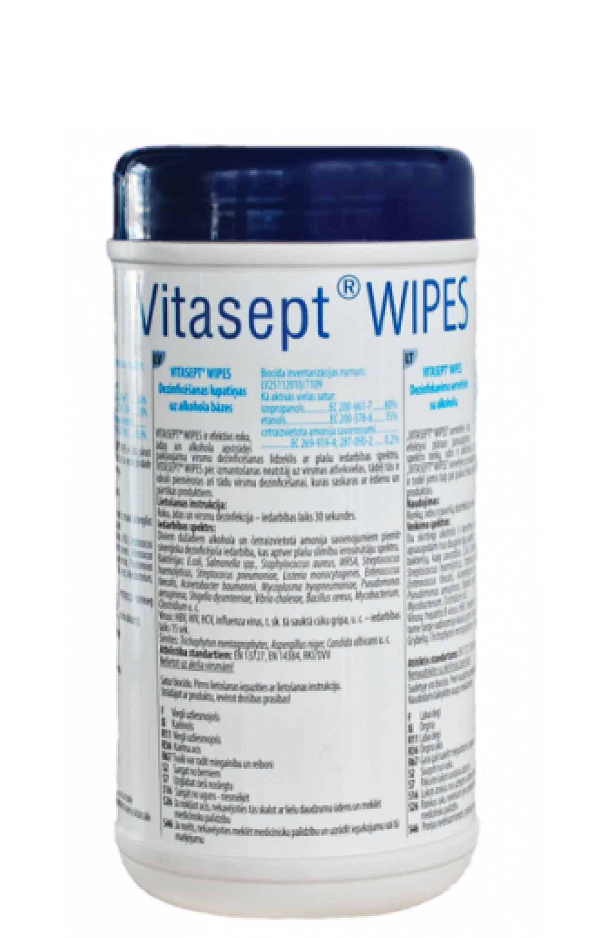 Dezinfekavimo servetėlės su alkoholiu Vitasept Wipes 120 vnt.-0