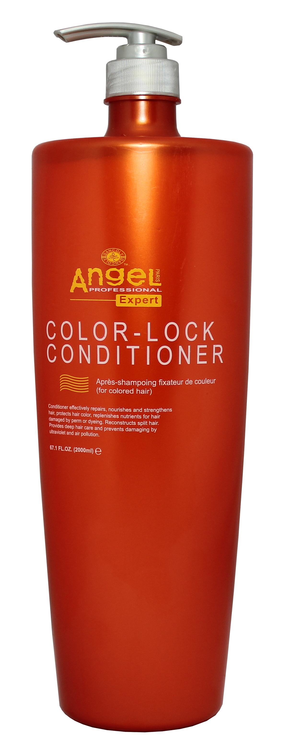 Apsaugantis spalvą kondicionierius, dažytiems plaukams Angel Professional Expert Color- Lock Conditioner 2000 ml-0