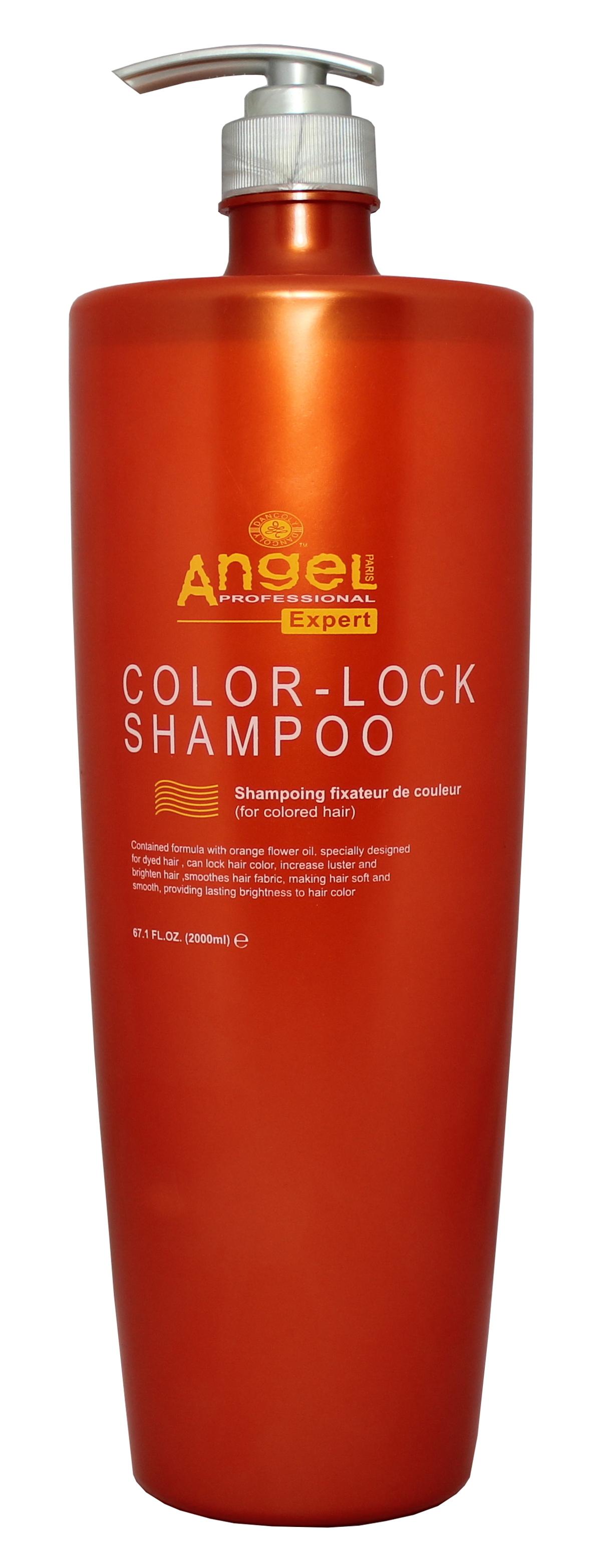 Spalvą apsaugantis šampūnas, dažytiems plaukams Angel Professional Expert Color- Lock Shampoo 2000ml-0