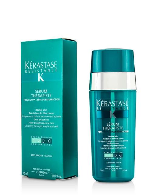 Dvigubo poveikio pažeistų plaukų serumas Kerastase Resistance Serum Therapiste Dual Treatment 30 ml-0