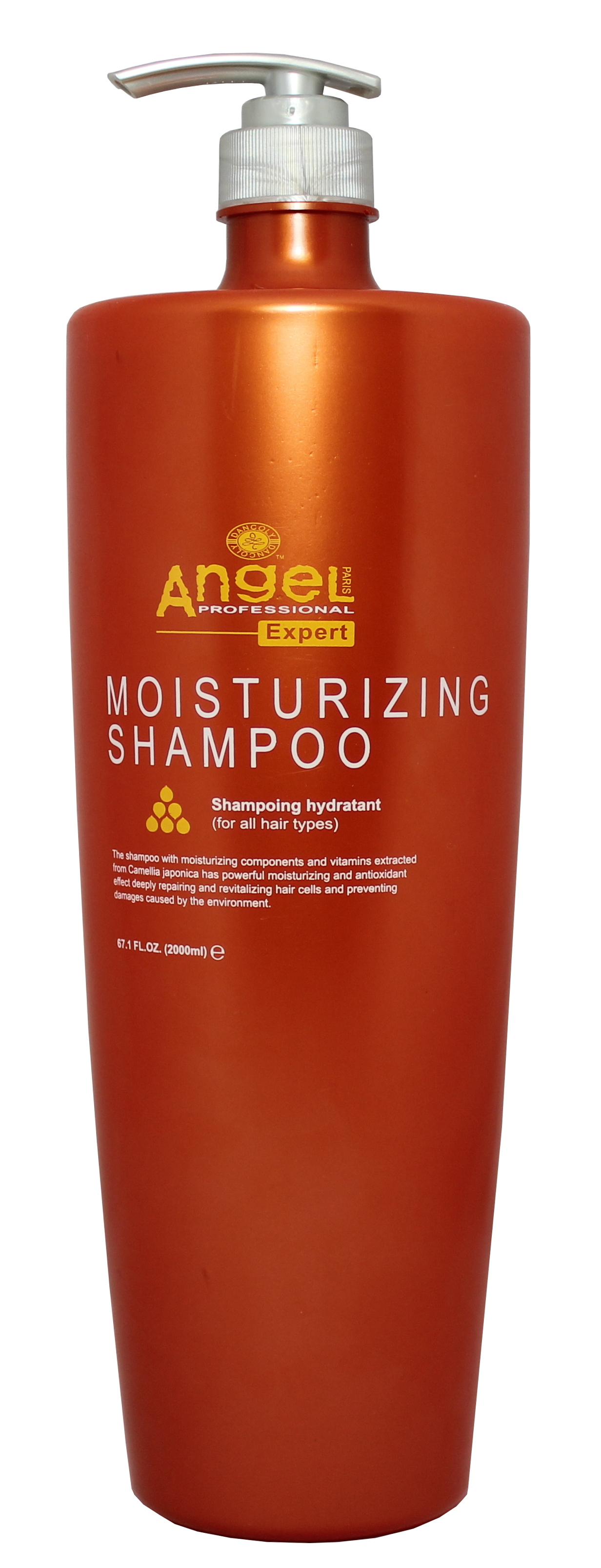 Drėkinantis šampūnas, visų tipų plaukams Angel Professional Expert Moisturizing Shampoo 2000 ml-0