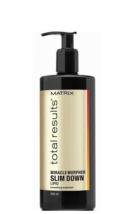 Koncentratas suteikiantis plaukams glotnumo Matrix Total Results Miracle Morpher Slim Down Lipid 500 ml-0