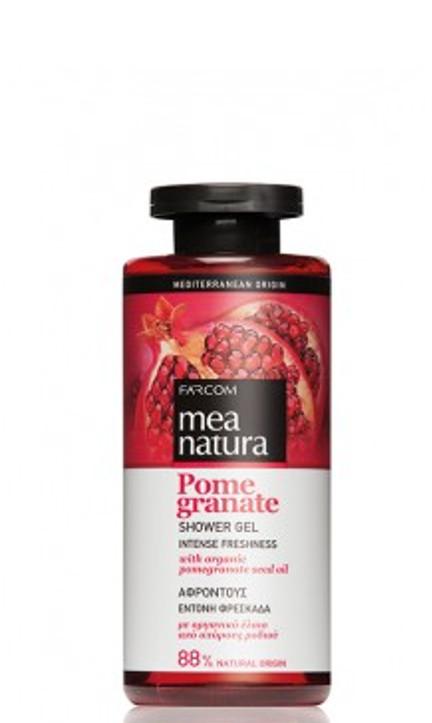 Dušo želė su organinių granatų sėklų aliejais Farcom Mea Natura Pome Granate Shower Gel 300 ml-0