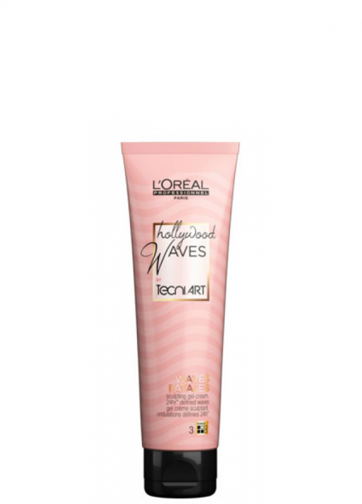 Želinis kremas garbanoms ir bangoms formuoti L'oreal Tecni Art Hollywood Waves Fatales (3) 150 ml-0