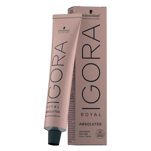 Schwarzkopf Igora Royal Absolutes ilgalaikio poveikio žilų plaukų dažai 60 ml