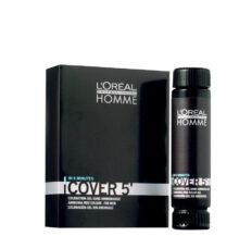 Vyrų plaukų dažai be amoniako L'oreal HOMME Cover 5' 3x50 ml-0