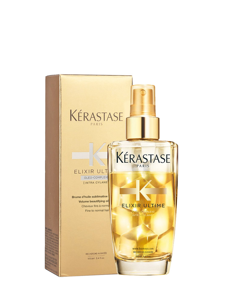 Gležnų plaukų purškiamas aliejus Kerastase Elixir Ultime Volume Beautifying oil mist 100 ml-0
