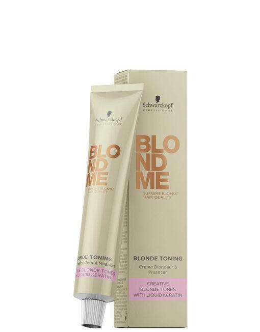 Schwarzkopf BlondMe šviesintų arba natūraliai šviesių plaukų tonavimo kremas 60 ml-0