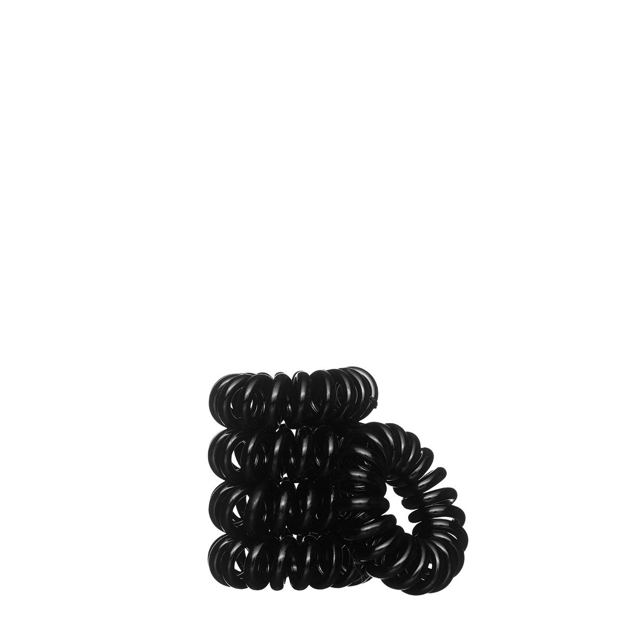 Spiralinės plaukų gumutės, juodos Bella Nova 5 vnt Nr. 92-0