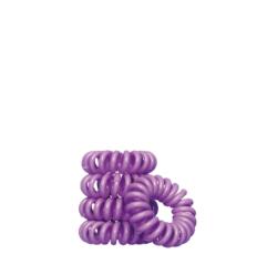 Spiralinės plaukų gumutės, violetinės Bella Nova 5 vnt Nr. 96-0