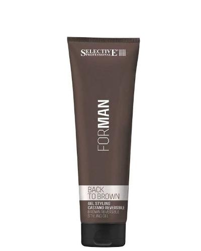 Nusiplaunantis kaštoninės spalvos plaukų formavimo gelis Selective For Man Back To Brown 150 ml -0