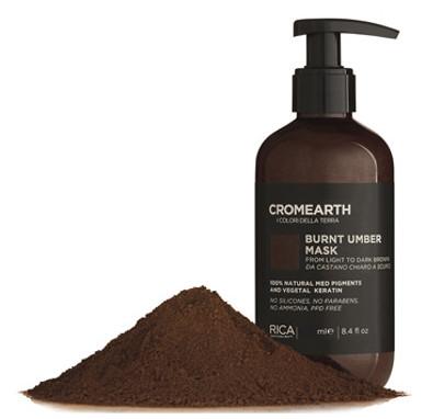 Tamsiai ruda, dažanti kaukė plaukams RICA Cromearth I Colordi Della Terra Burnt Umber 1000 ml-0