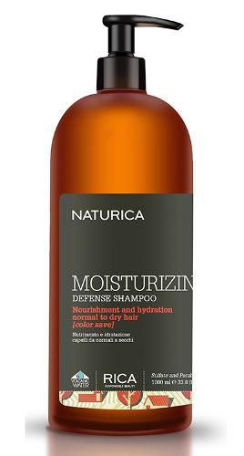 Plaukus maitinantis ir drėkinantis šampūnas normaliems ir sausiems plaukams su spalvos apsauga Rica Naturica Moisturizing Defense 1000 ml-0