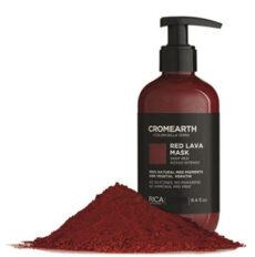 Ryškiai raudona, dažanti kaukė plaukams RICA Cromearth I Colordi Della Terra Red Lava Mask 1000 ml-0
