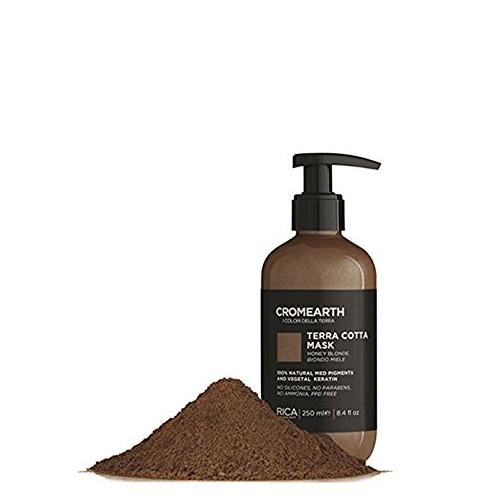 Medaus atspalvį suteikianti, dažanti kaukė plaukams RICA Cromearth I Colordi Della Terra Cotta 250 ml-0