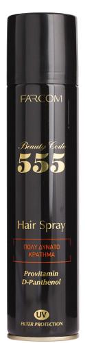 Labai stiprios fiksacijos plaukų lakas FARCOM Beauty Code 555 Hair Spray 400 ml-0