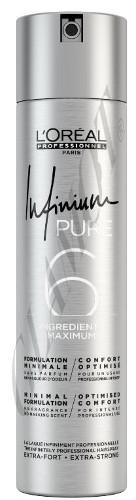 Bekvapis plaukų lakas stiprios fiksacijos L'oreal Professionnel Infinium Pure Strong 500 ml-0