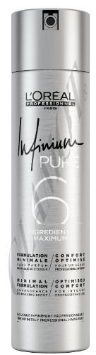 Bekvapis plaukų lakas labai stiprios fiksacijos L'oreal Professionnel Infinium Pure Extra - Strong 500 ml-0