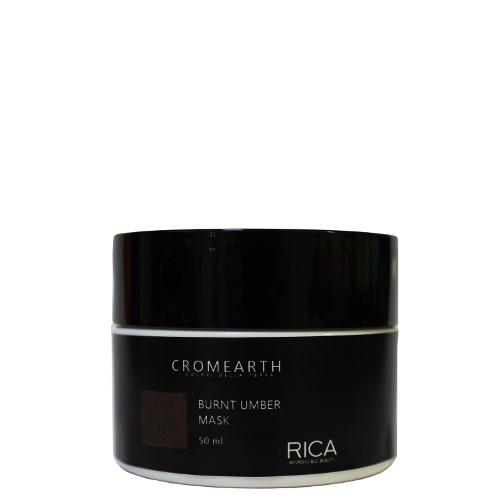 Tamsiai ruda, dažanti kaukė plaukams RICA Cromearth I Colordi Della Terra Burnt Umber 50 ml-0