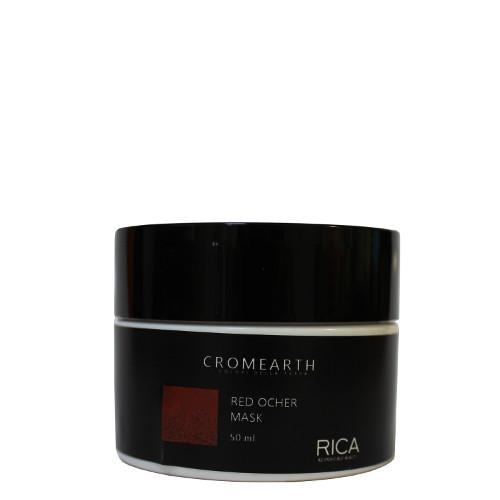 Šviesiai varinės spalvos, dažanti kaukė plaukams RICA Cromearth I Colordi Della Terra Red Ocher 50 ml-0