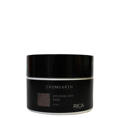 Raudonus atspalvius neutralizuojanti plaukų kaukė RICA Cromearth I Colordi Della Terra Volcanic Ash 50 ml-0