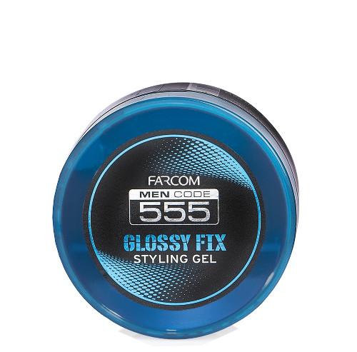 Blizgi modeliavimo želė vyrams FARCOM Men Code 555 Glossy Fix Styling Gel 250 ml -0