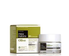 Drėkinantis, gaivinantis veido ir akių kremas, išlaikantis odos drėgmę iki 24 val FARCOM Mea Natura Olive Moisturizing, Revitaling Face&Eyes Cream 50 ml-0