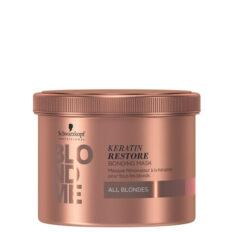 Atkuriamoji plaukų kaukė su keratinu šviesiems plaukams Schwarzkopf Professional Blond Me Keratin Restore Bonding Mask All Blondes 500 ml-0
