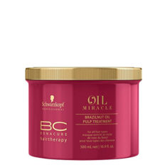 Plaukų kaukė su bertoletijų riešutų aliejumi Schwarzkopf Professional BC Bonacure Oil Miracle Brazil Nut Oil Pulp Treatment 500 ml-0