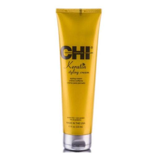 Lanksčios fiksacijos modeliavimo kremas CHI Keratin Styling Cream 133 ml-0