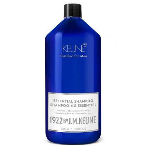 Vyriškas švelniai valantis plaukų šampūnas plaukams ir kūnui 1992 by J.M. Keune Essential Shampoo 1000ml