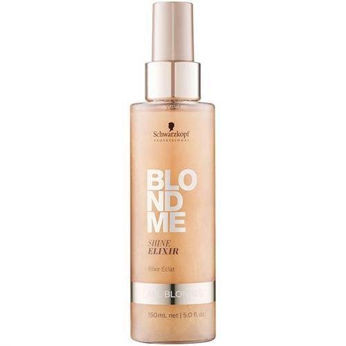 Blizgesio suteikiantis eliksyras šviesiems plaukams Schwarzkopf BlondMe Shine Elixir 150ml-0